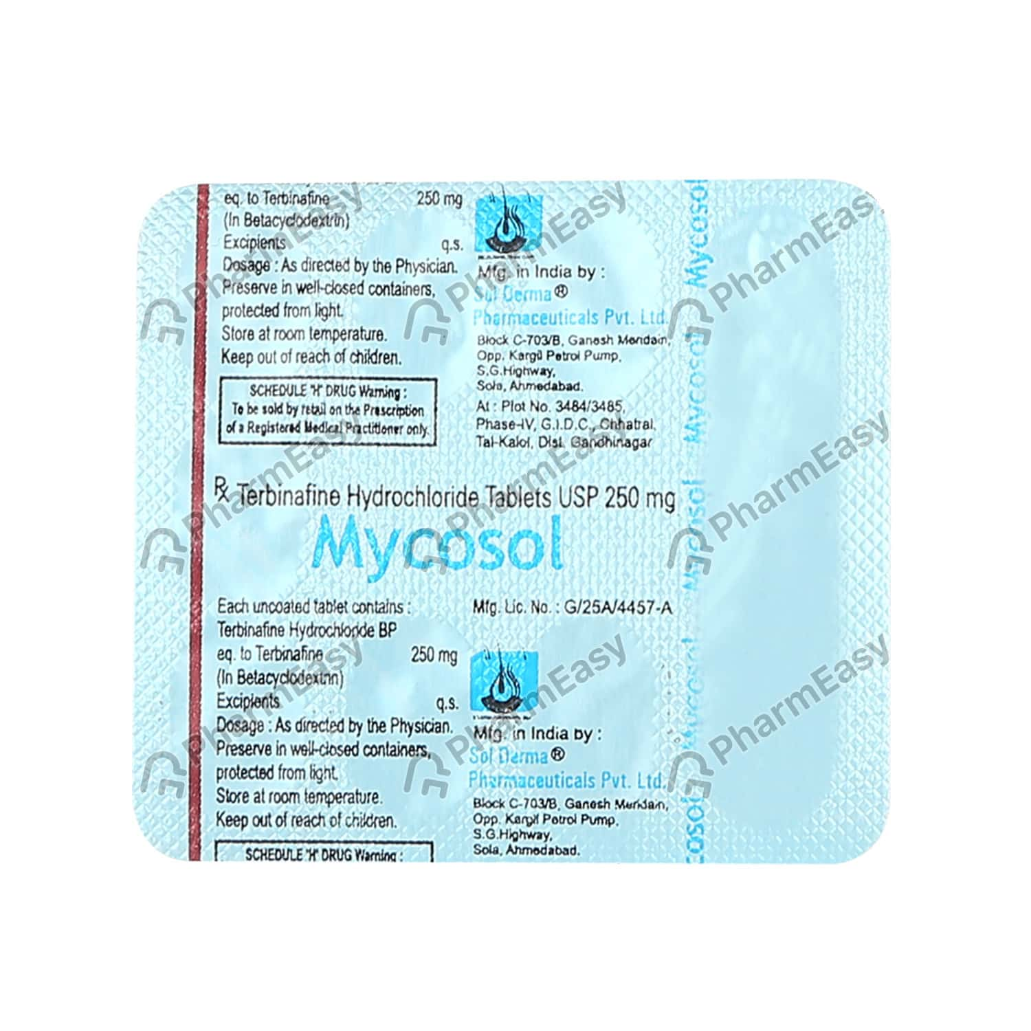 Mycosol 250mg Tablet 7's
