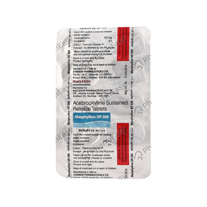 Macphylline Sr 200mg Tablet