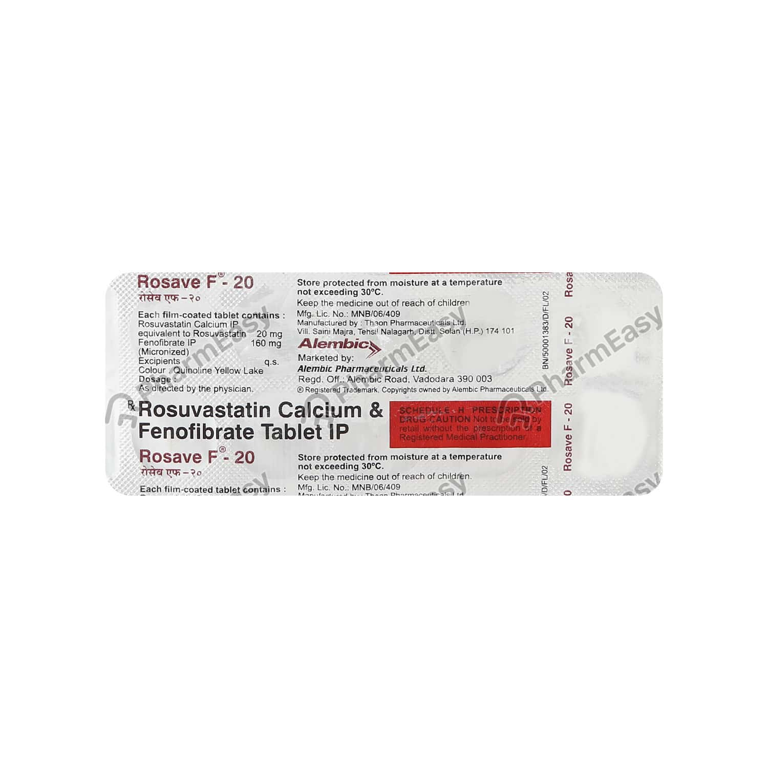 Rosave F 20mg Strip Of 10 Tablets