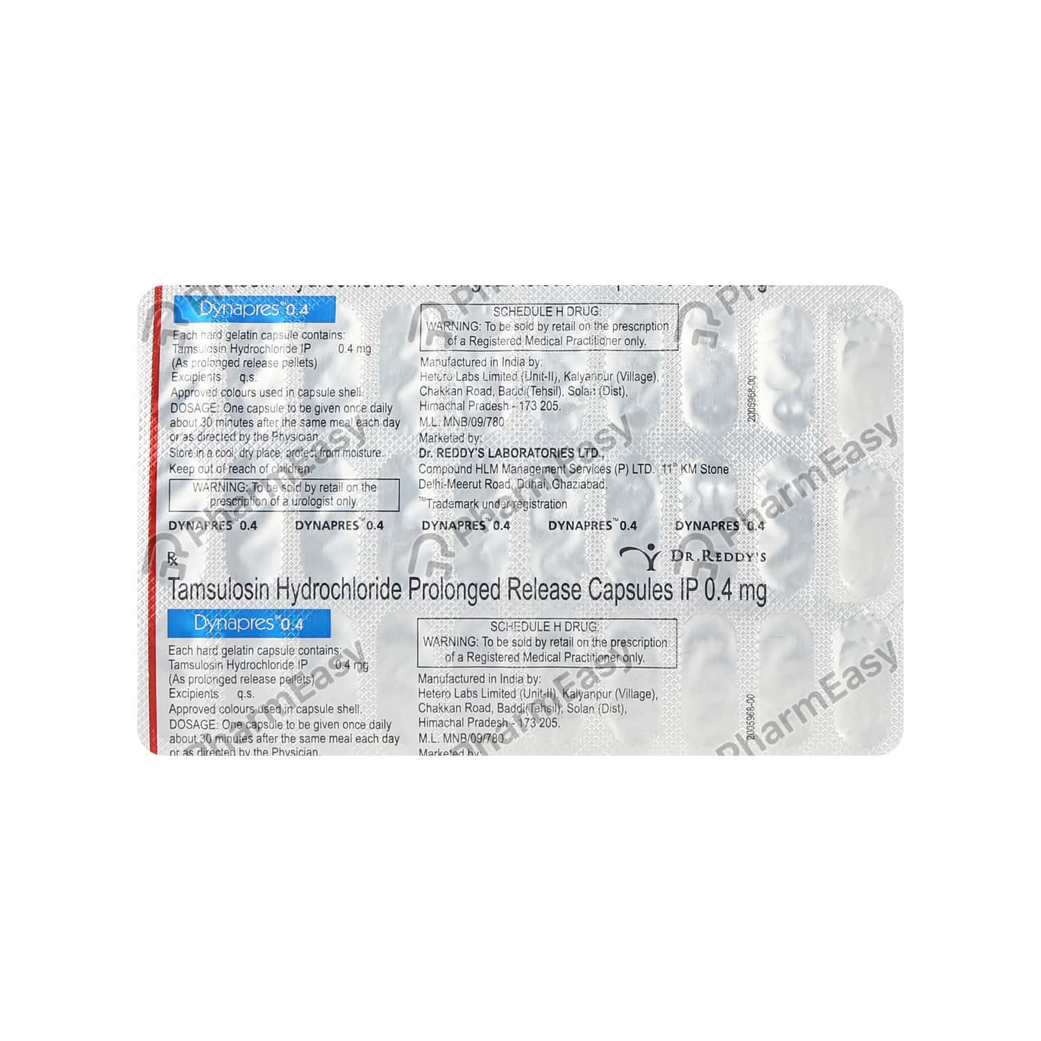 Dynapres 0.4mg Strip Of 30 Capsules