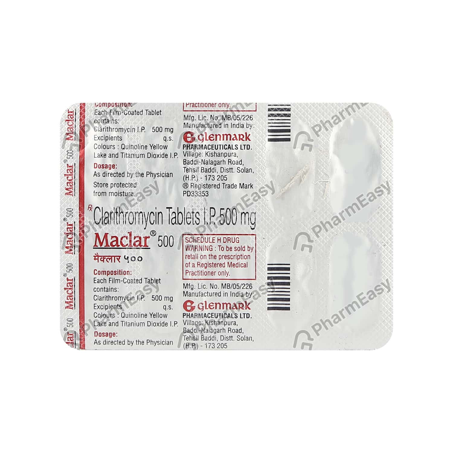Maclar 500mg Strip Of 10 Tablets