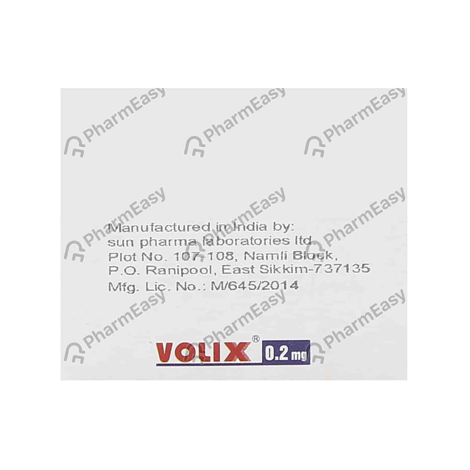 Volix 0.2mg Strip Of 15 Tablets