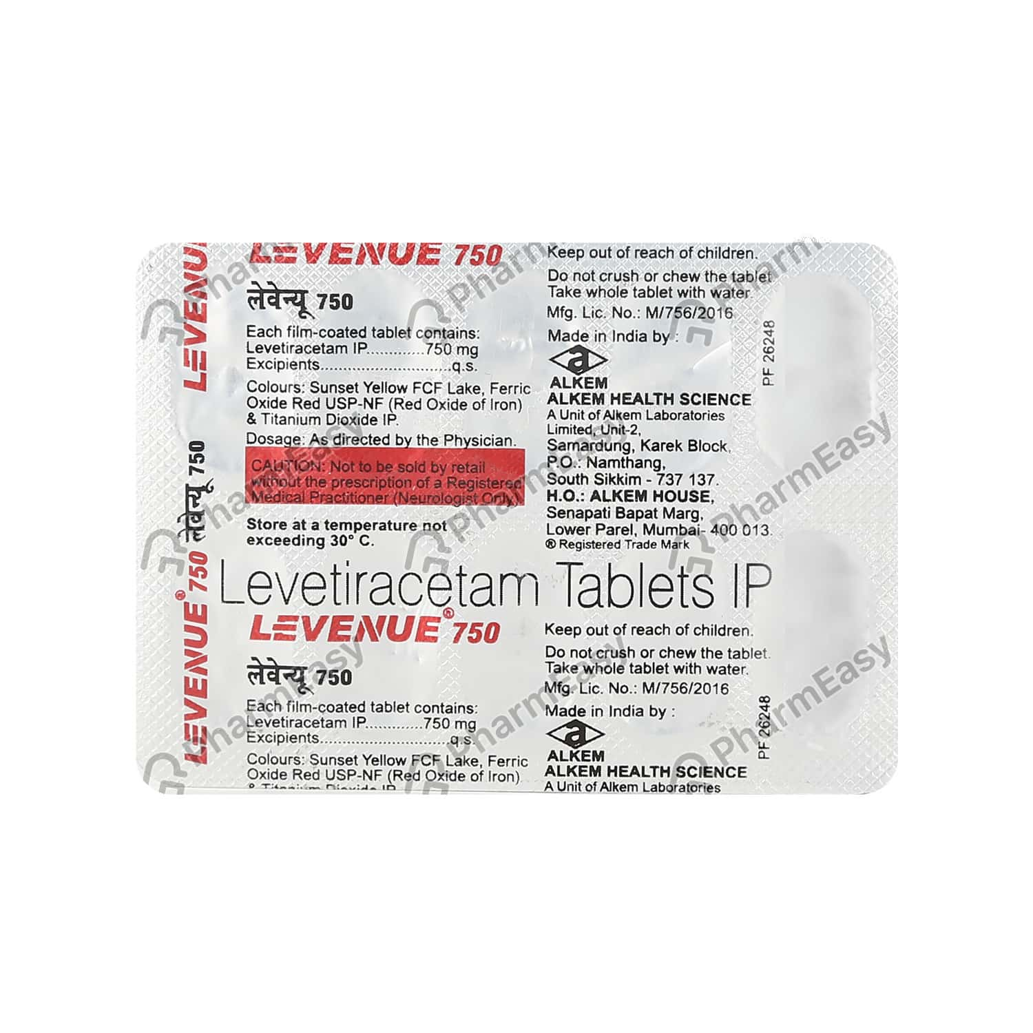 Levenue 750mg Tablet