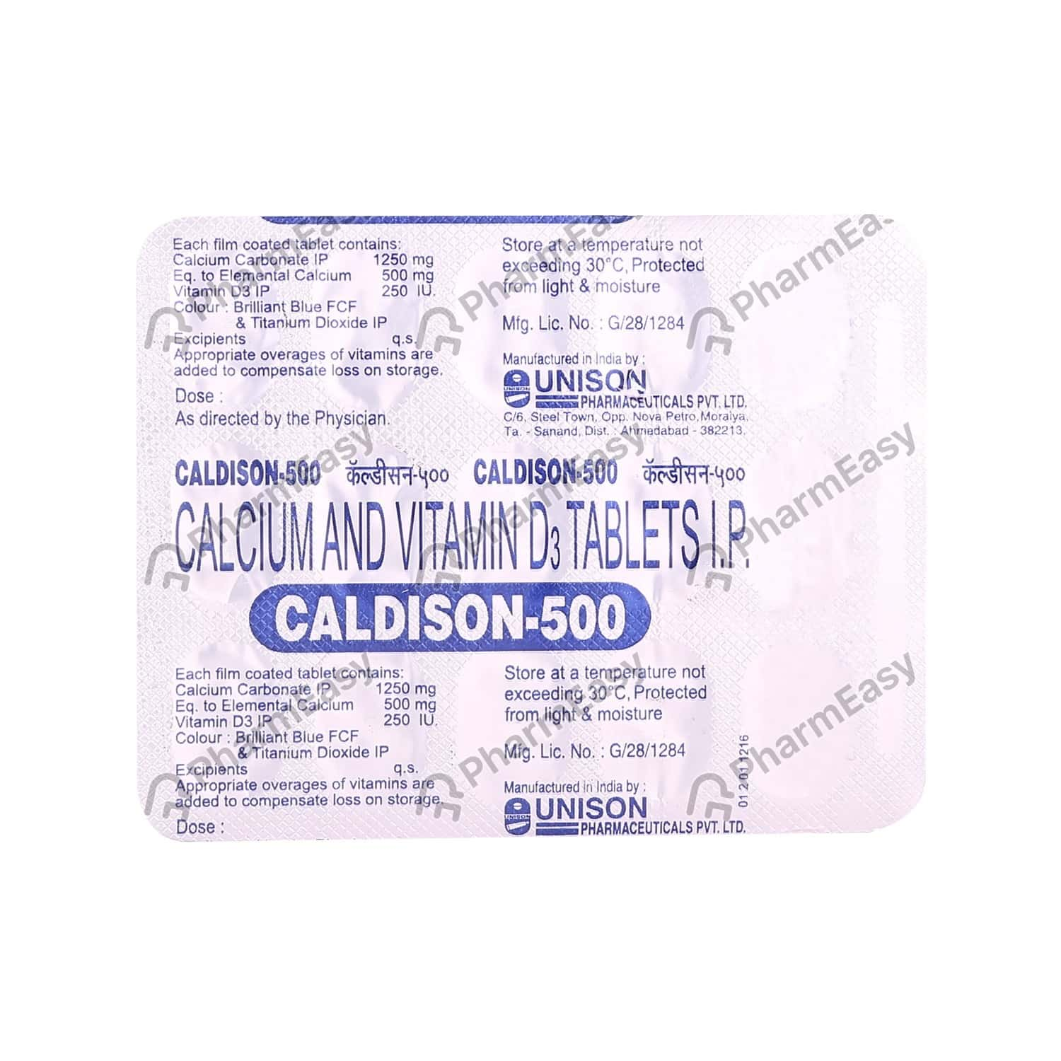 Caldison 500mg Strip Of 15 Tablets