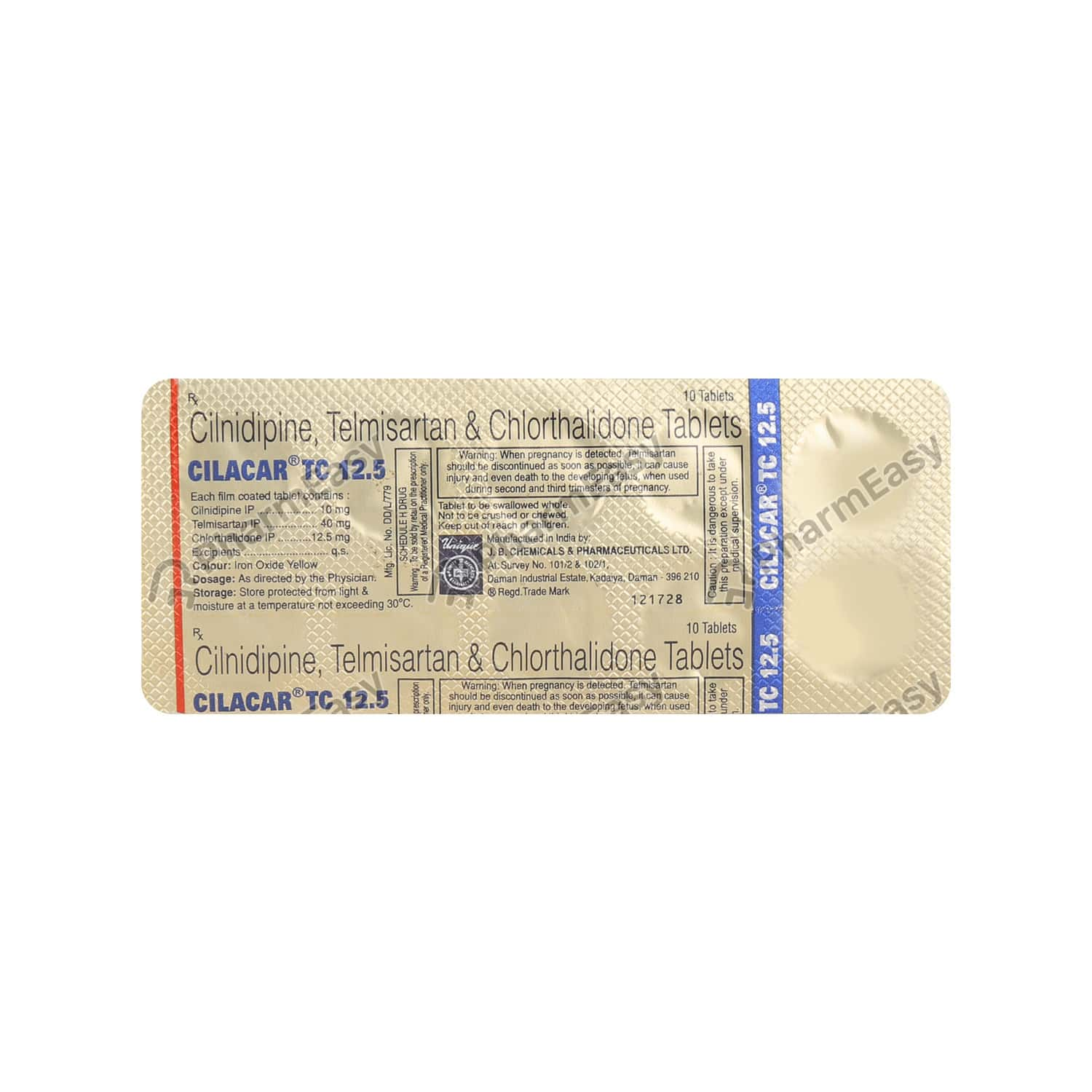 Cilacar Tc 12.5mg Strip Of 10 Tablets