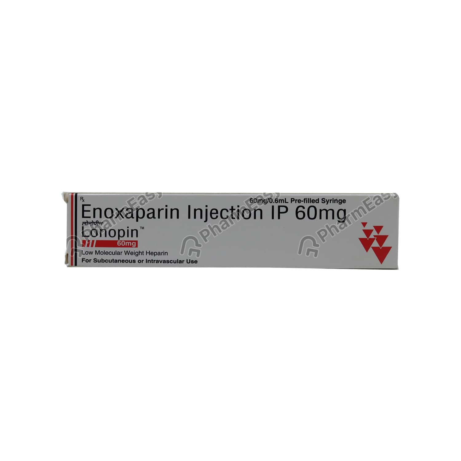Lonopin 60mg Pre Filled Syringe Injection 0.6ml