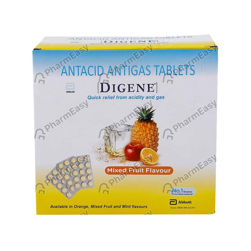 Digene Tablets Mixed Fruit For Acidity & Gas Relief - 15's