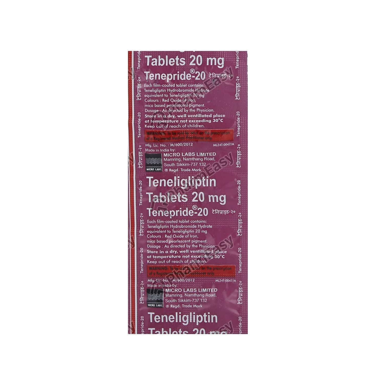 Tenepride 20mg Strip Of 10 Tablets