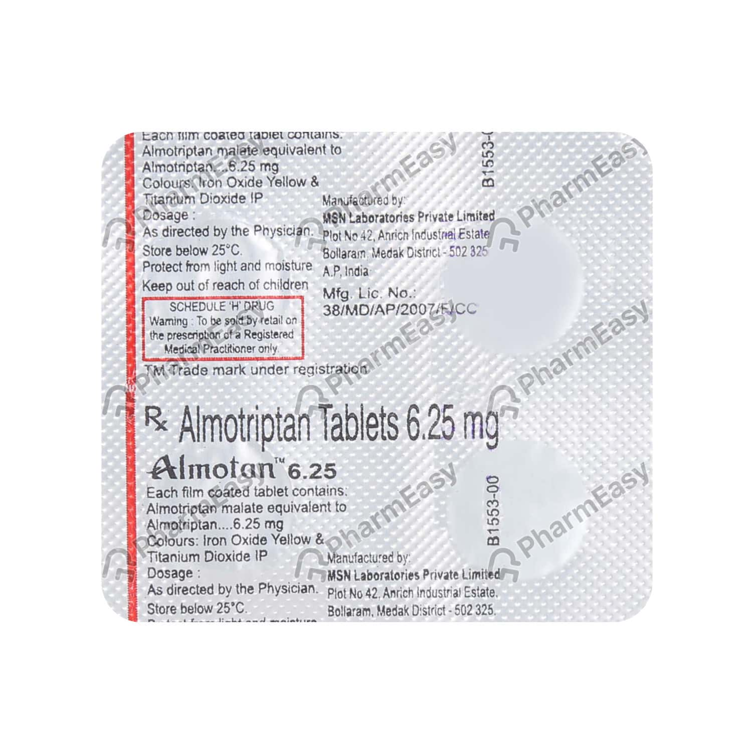 Almotan 6.25mg Strip Of 4 Tablets