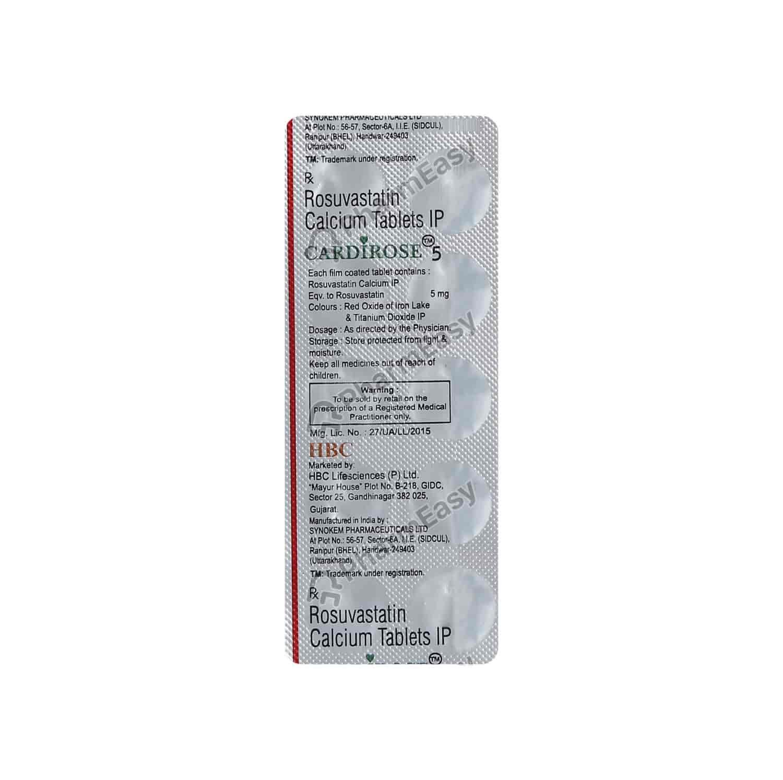 Cardirose 5mg Tablet