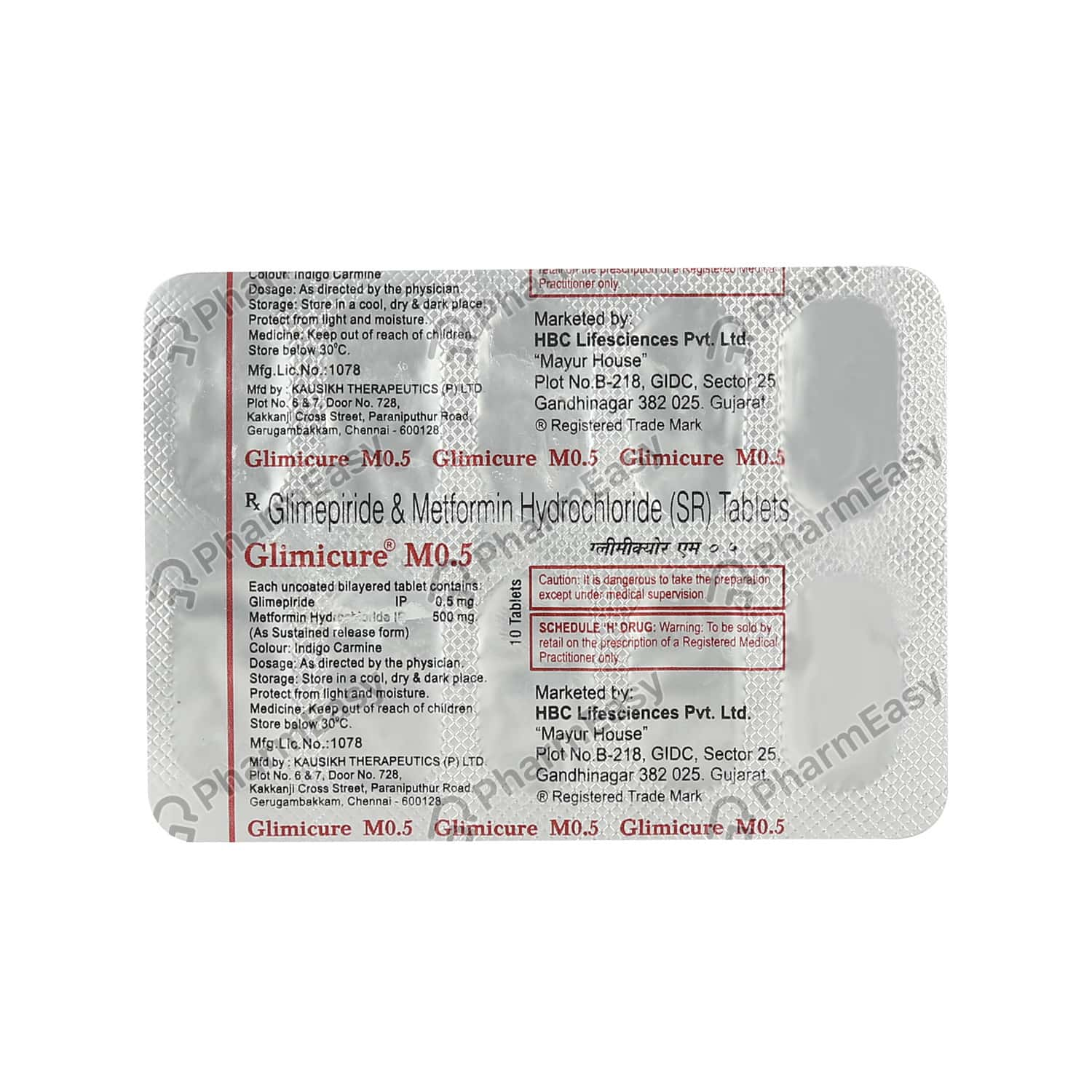 Glimicure M 0.5mg Strip Of 10 Tablets