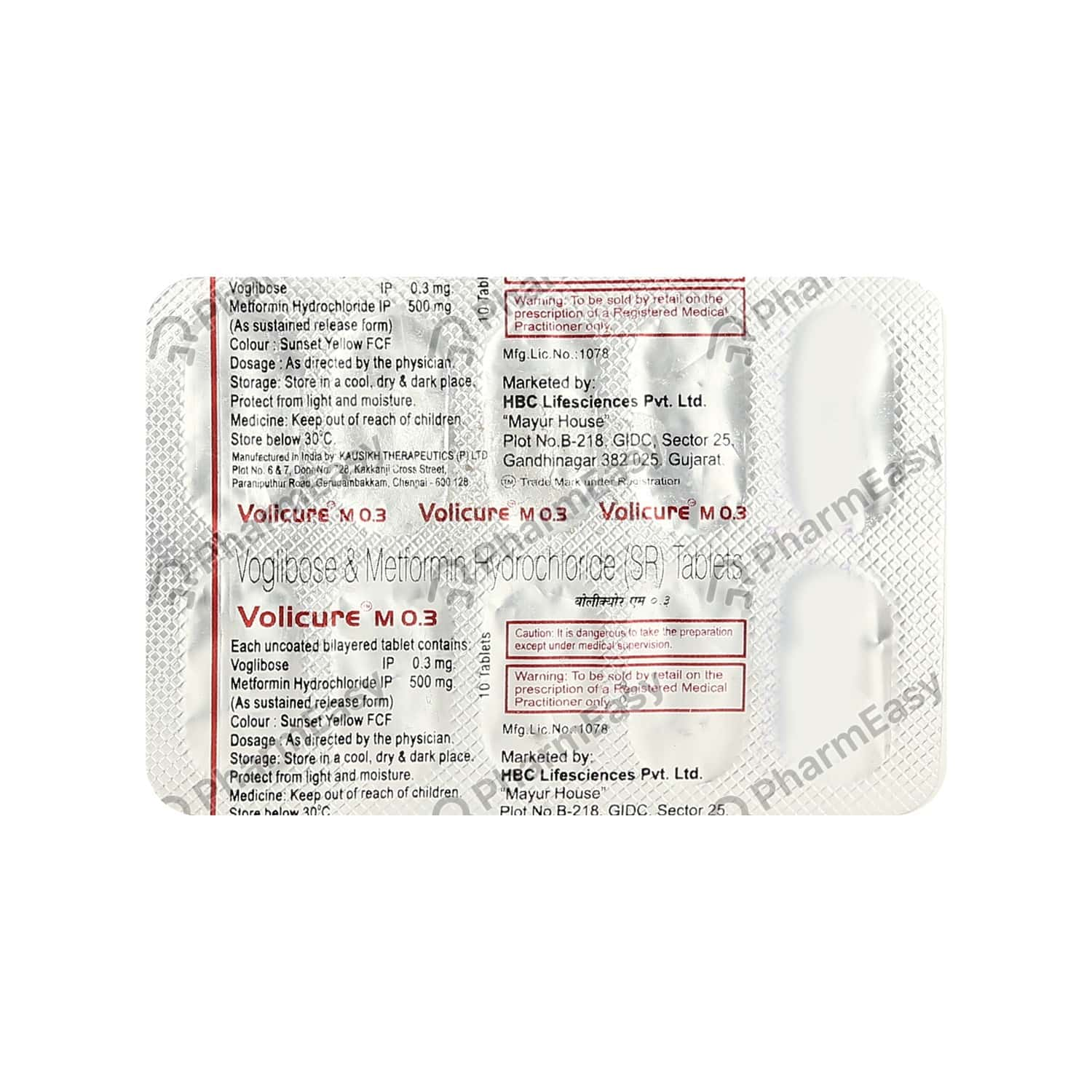 Volicure M 0.3mg Strip Of 10 Tablets