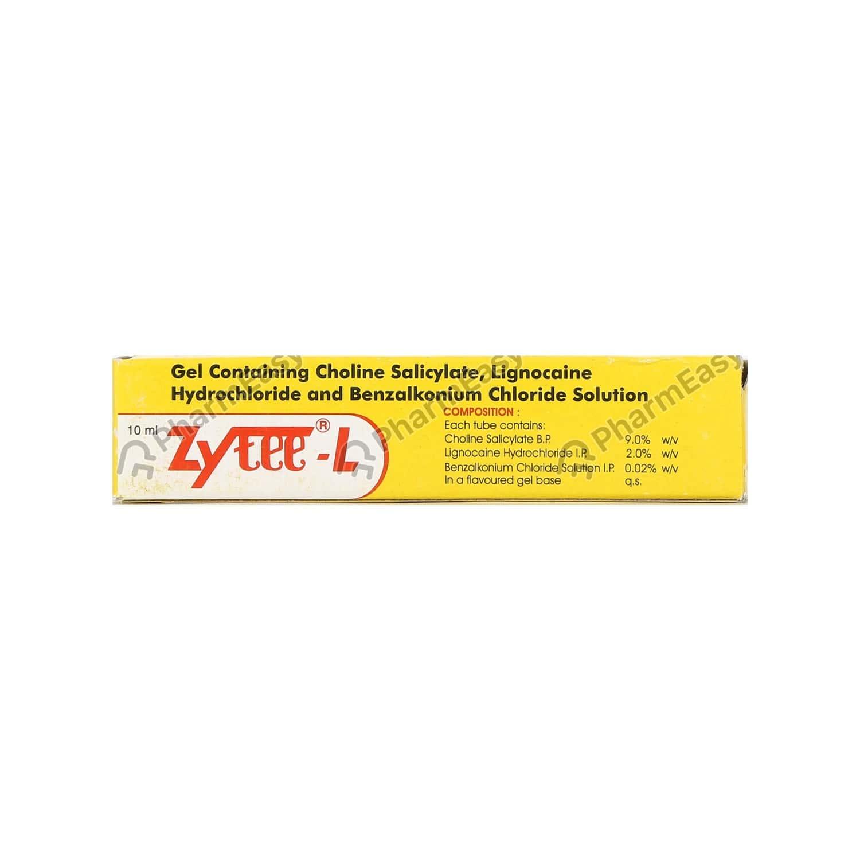 Zytee L Tube Of 10ml Gel