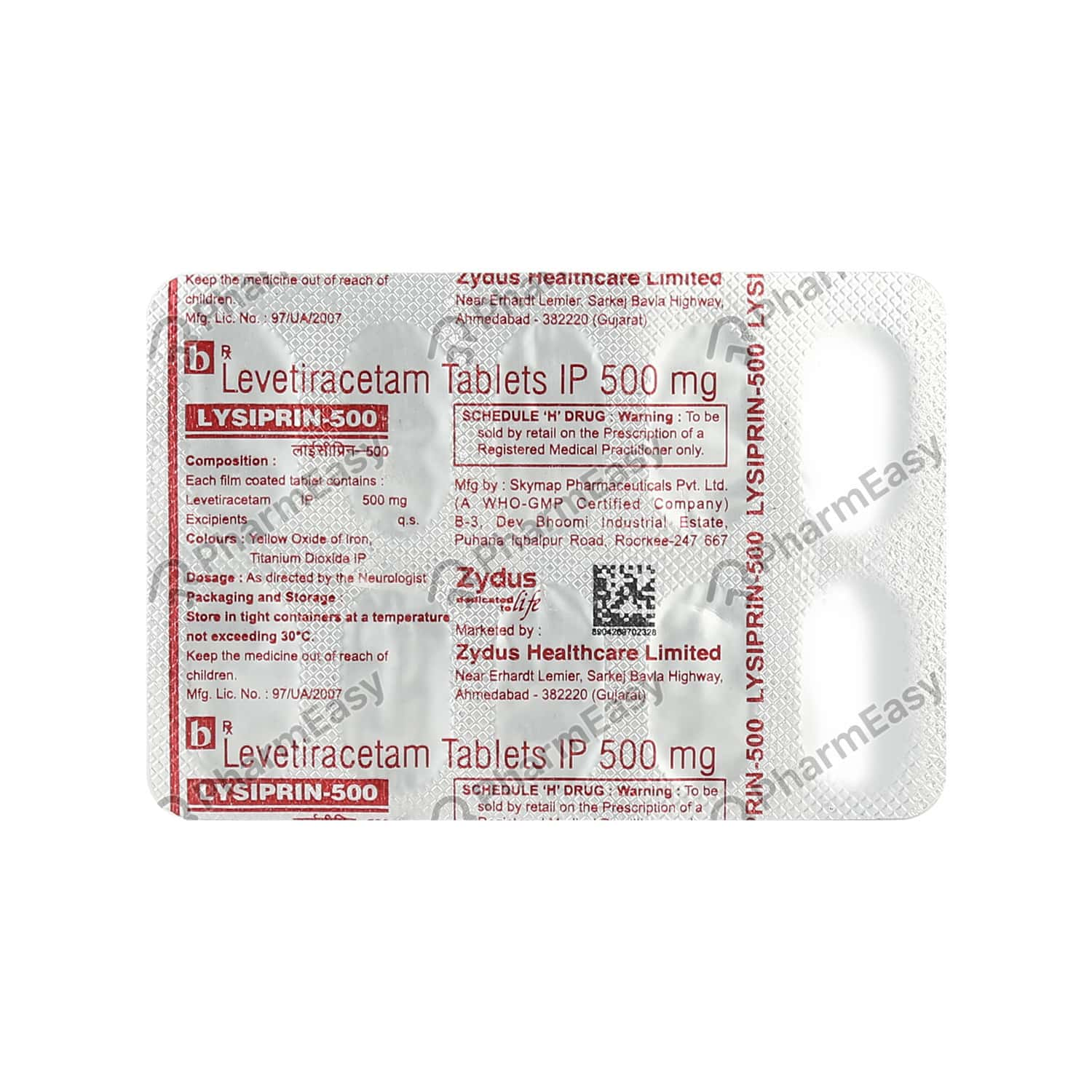 Lysiprin 500mg Tablet