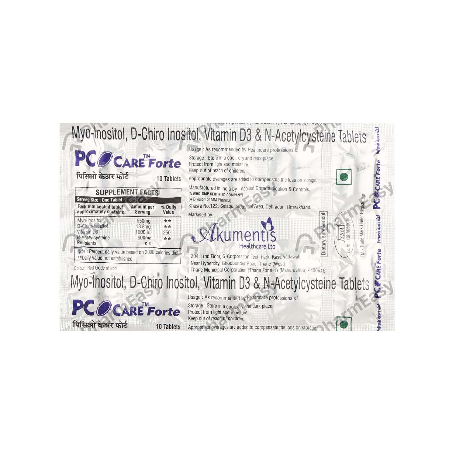 Pco Care Forte Strip Of 10 Tablets