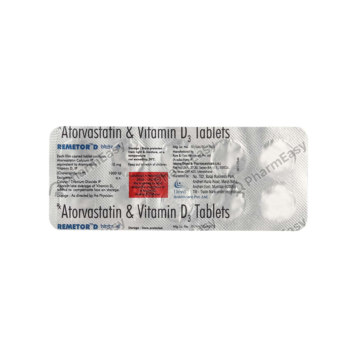 Remetor D 10mg Tablet