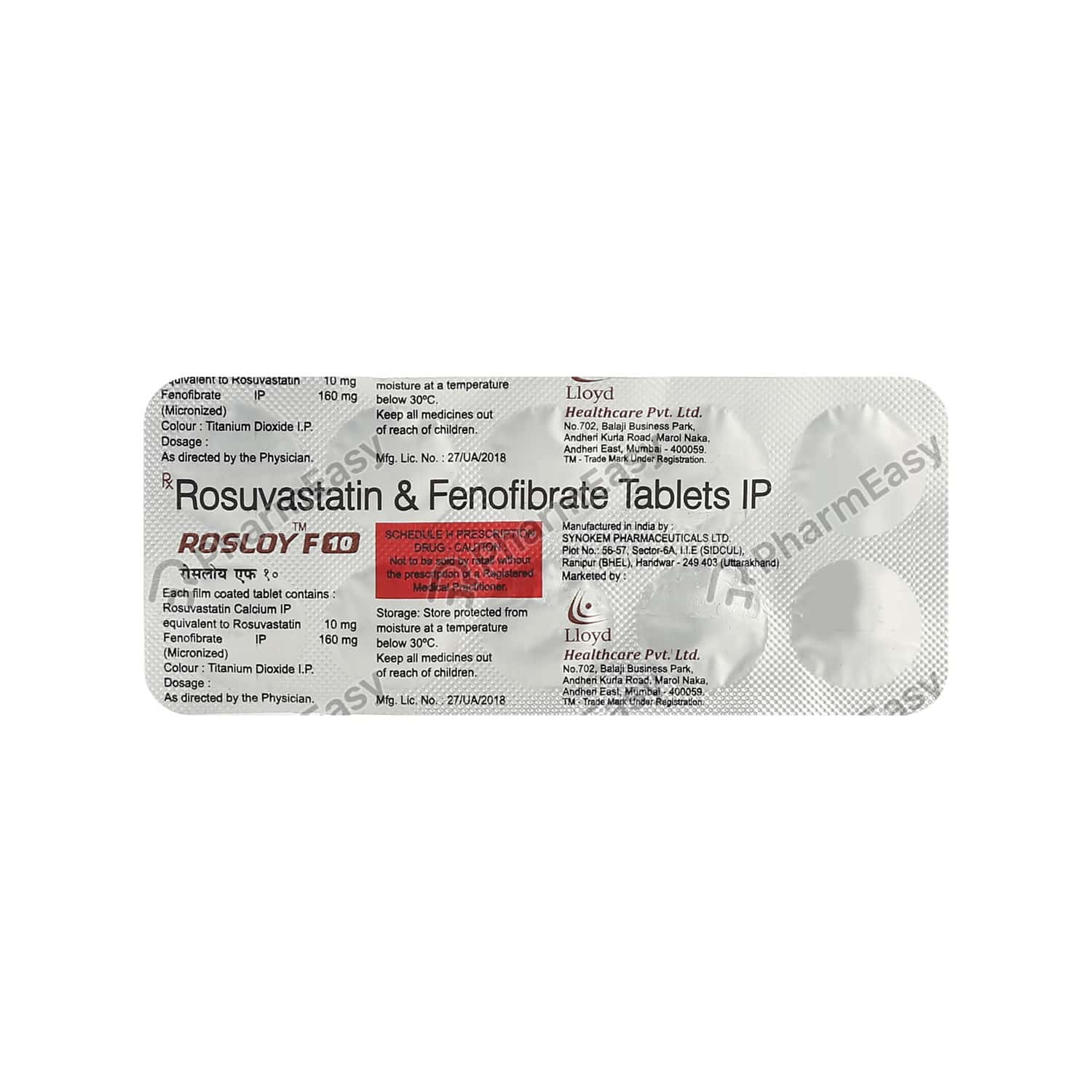 Rosloy F 10mg Tablet