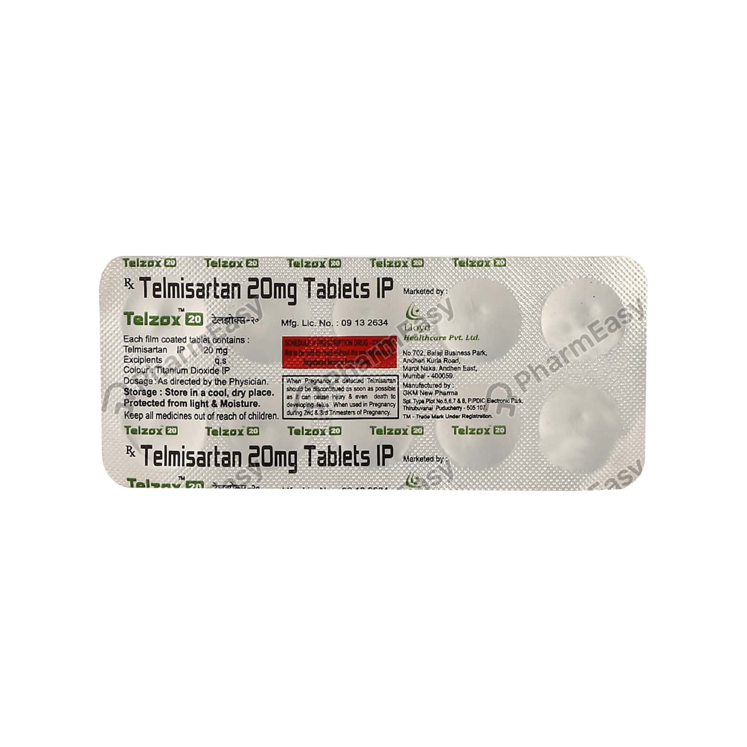 Telzox 20mg Tablet