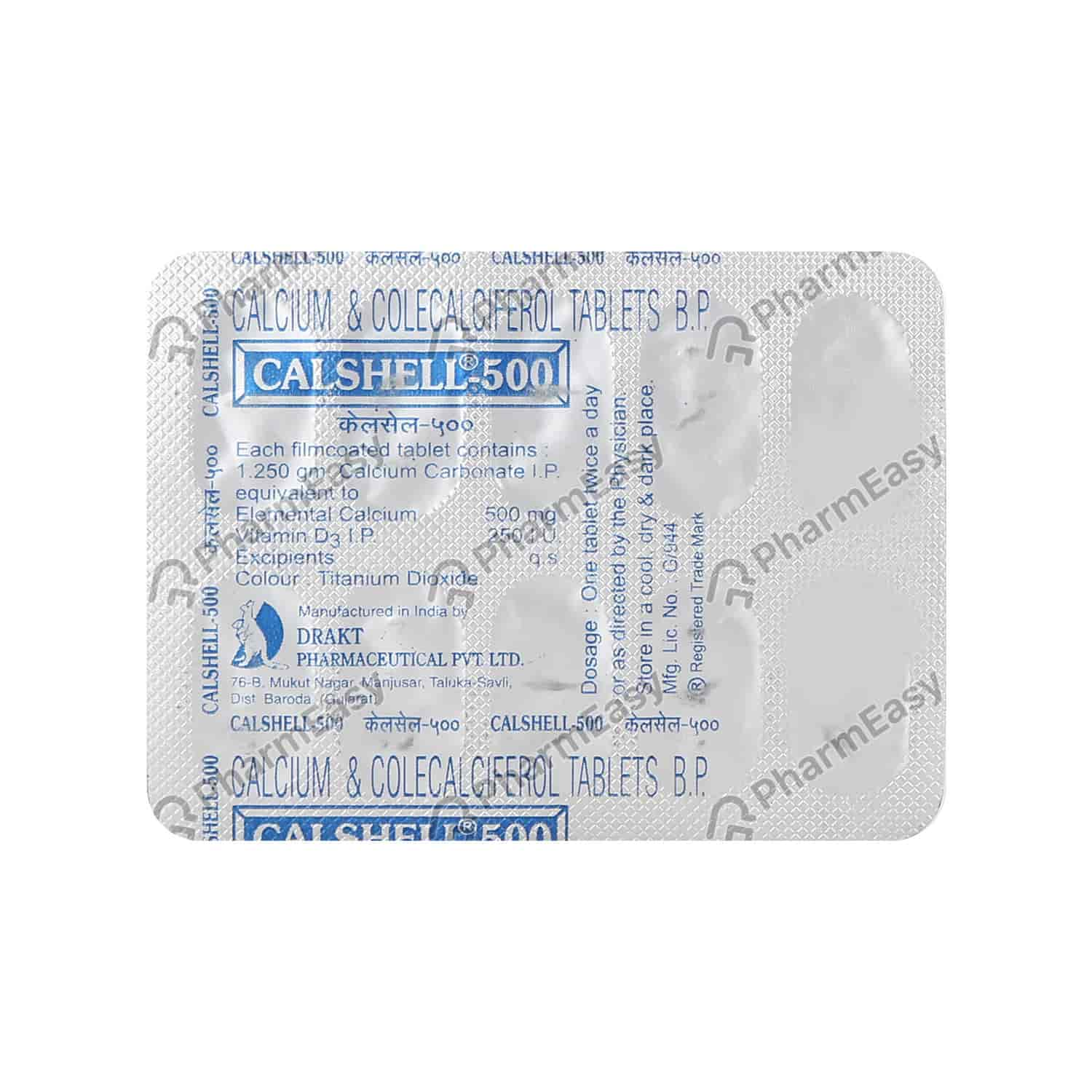 Calshell 500mg Tablet