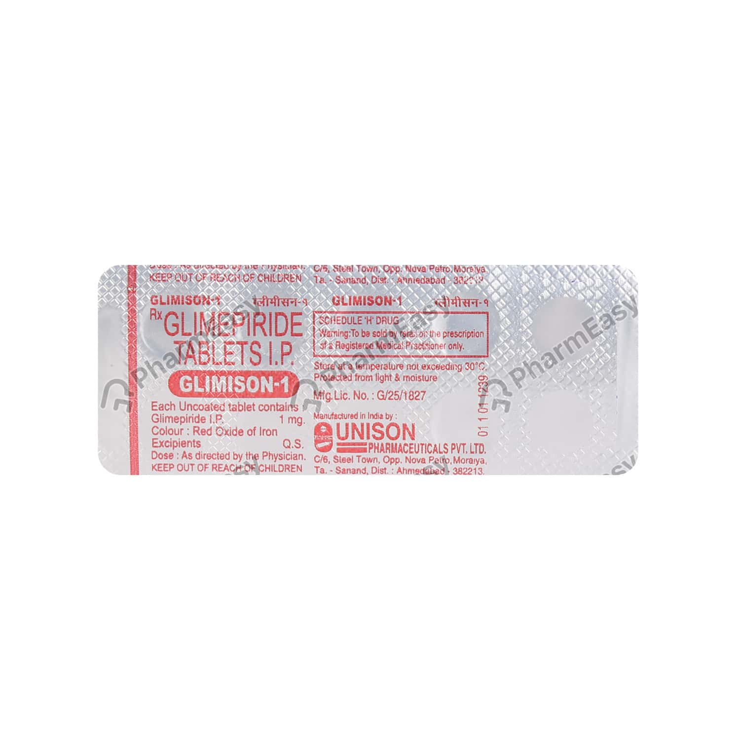Glimison 1mg Tablet