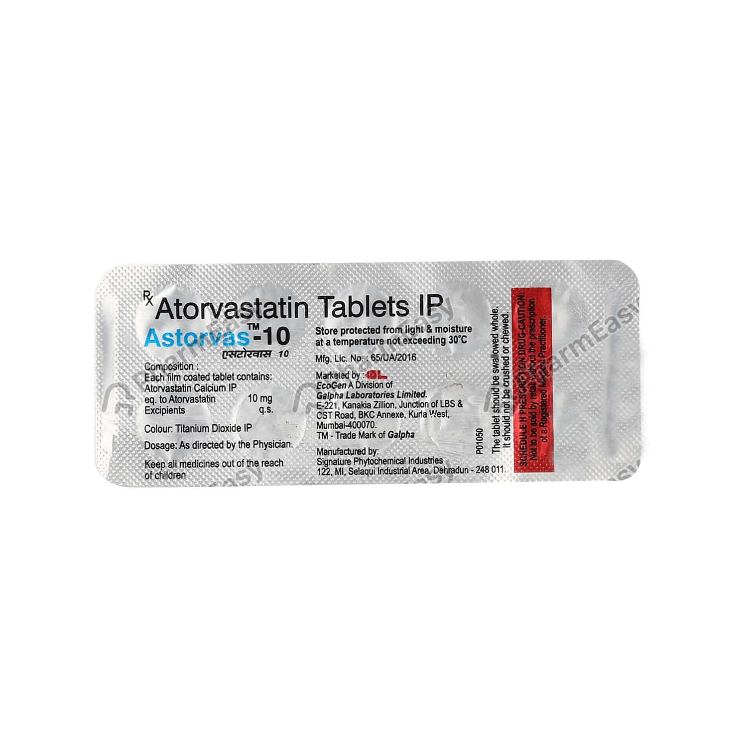 Astorvas 10mg Tablet