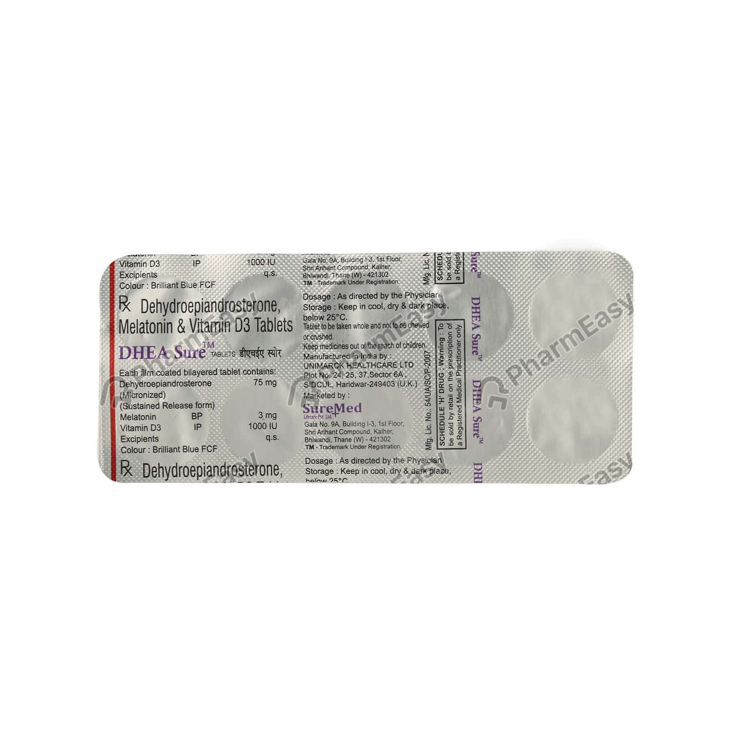 Dhea Sure Strip Of 10 Tablets