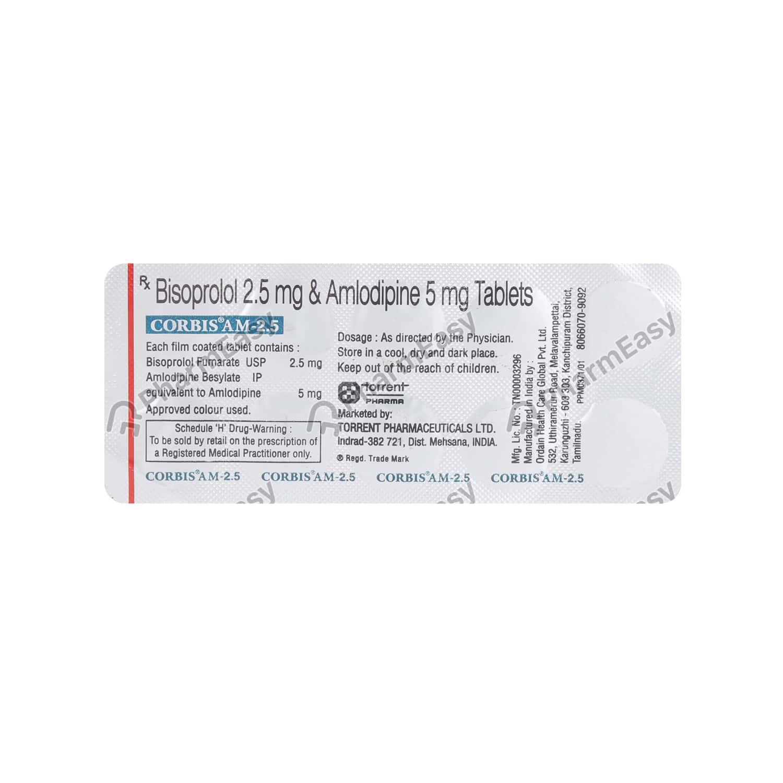 Corbis Am 2.5mg Strip Of 10 Tablets