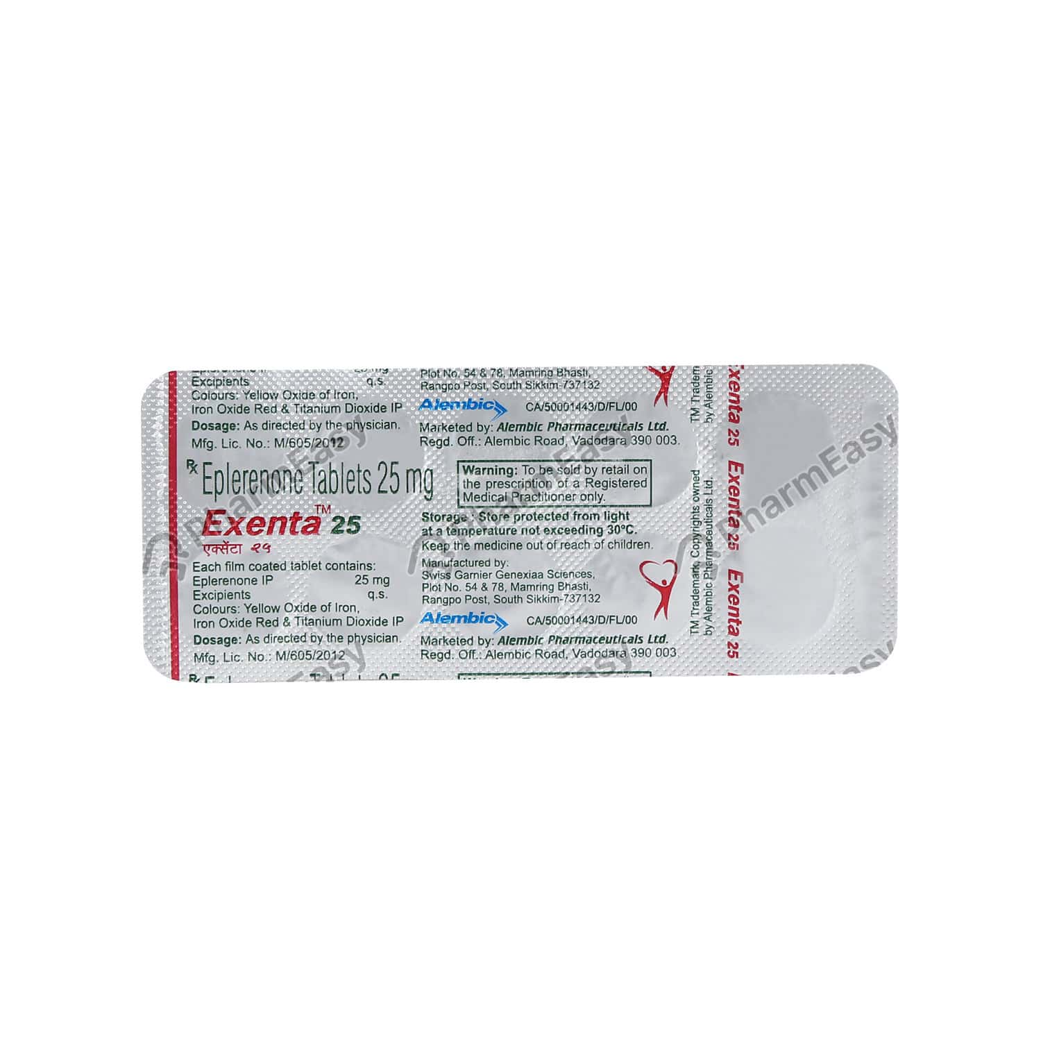 Exenta 25mg Tablet