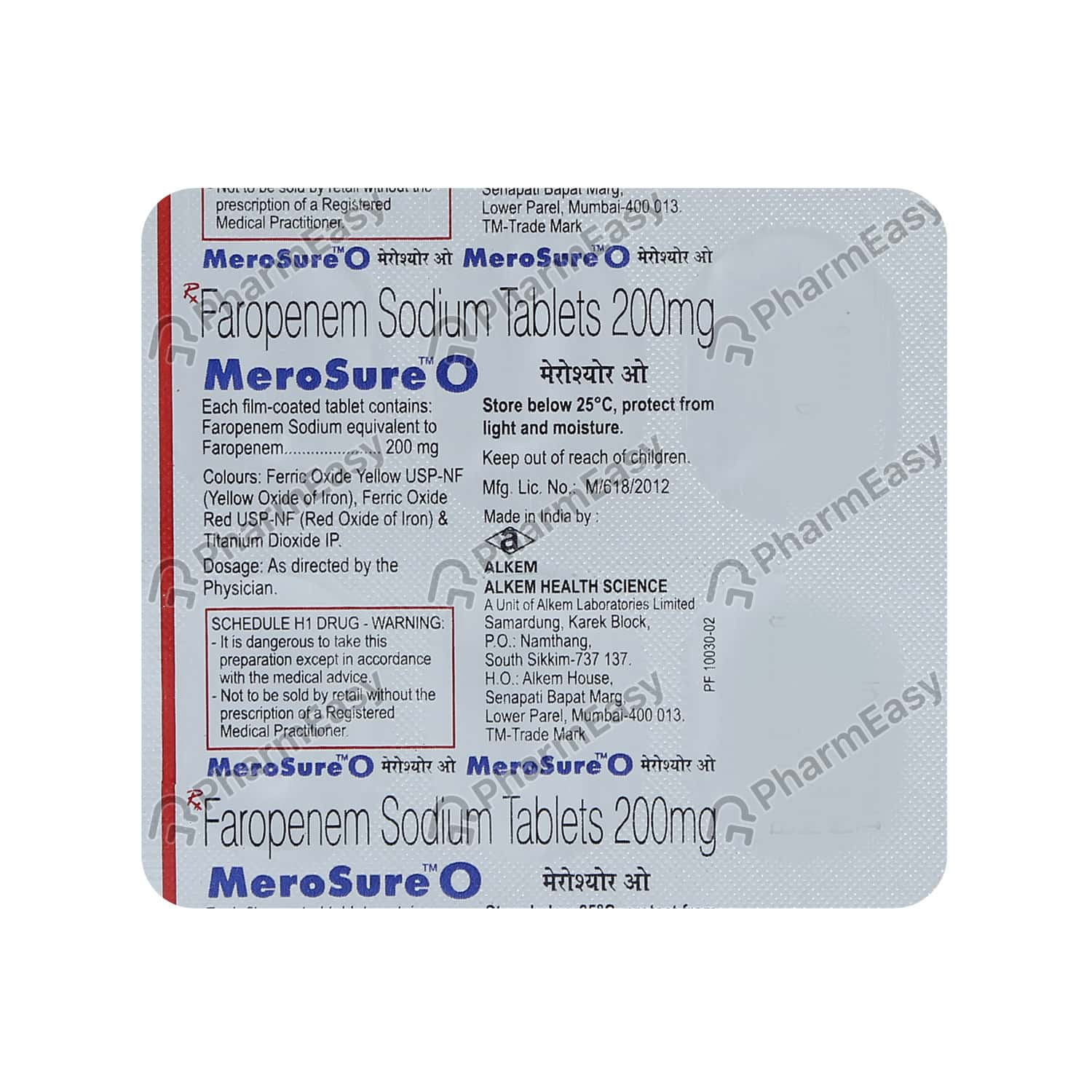 Merosure O 200mg Strip Of 6 Tablets
