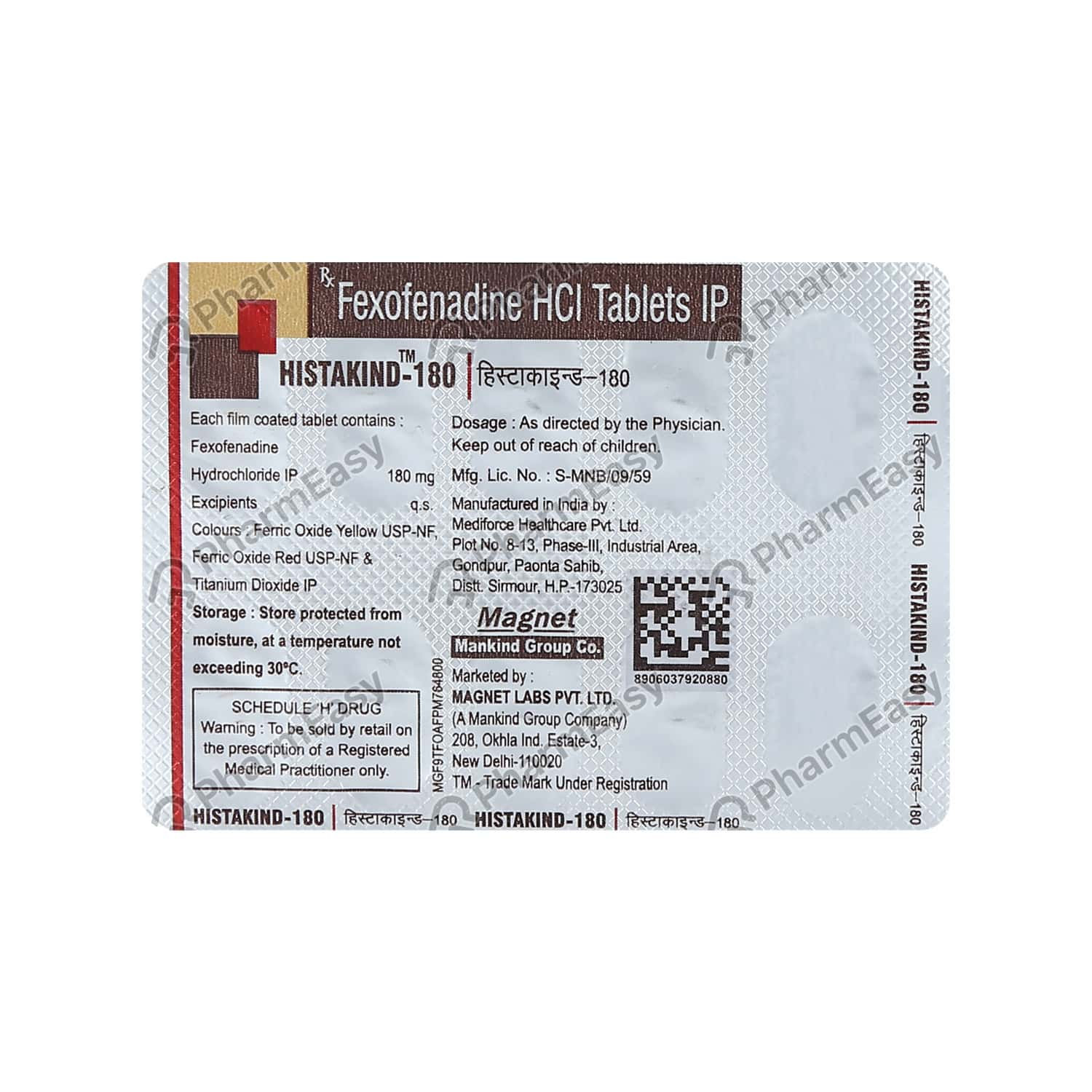 Histakind 180mg Tablet
