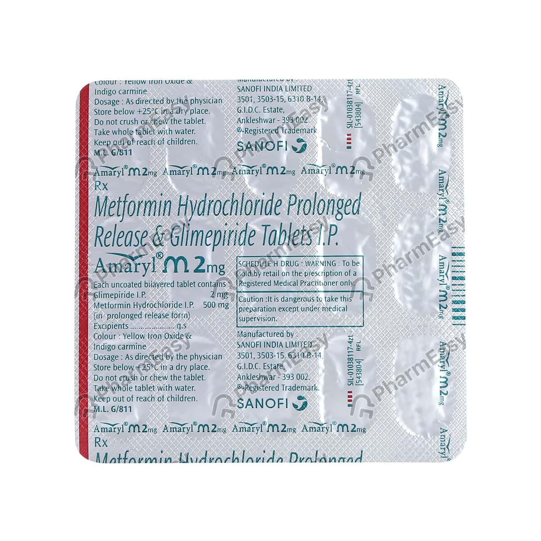 Amaryl M 2mg Strip Of 15 Tablets
