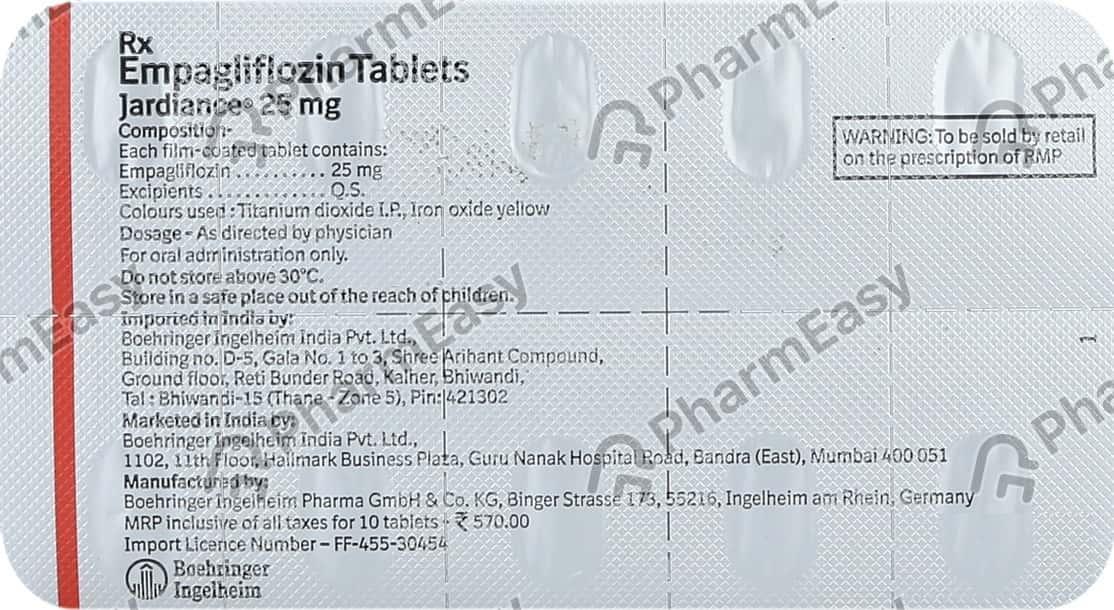 Jardiance 25mg Strip Of 10 Tablets