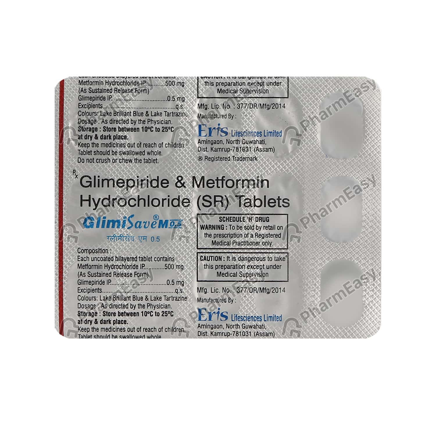 Glimisave M 0.5mg Strip Of 15 Tablets