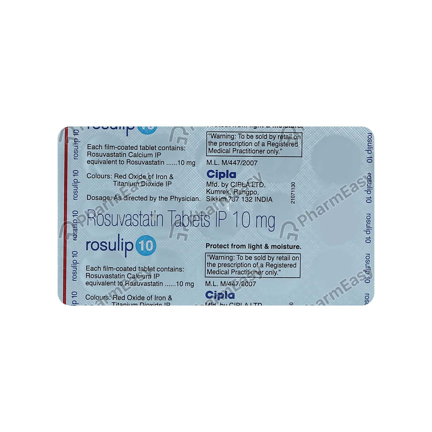 Rosulip 10mg Strip Of 15 Tablets