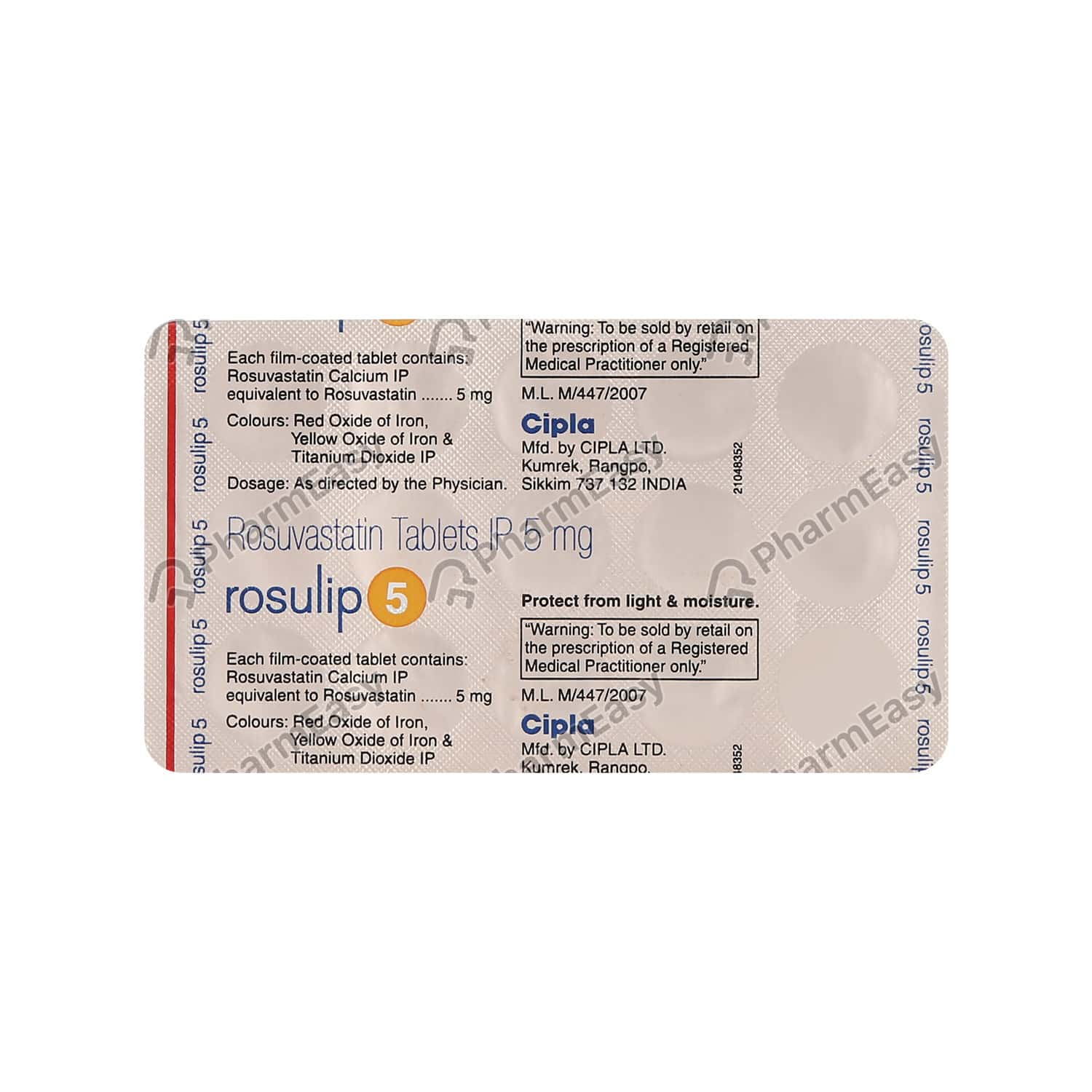 Rosulip 5mg Strip Of 15 Tablets