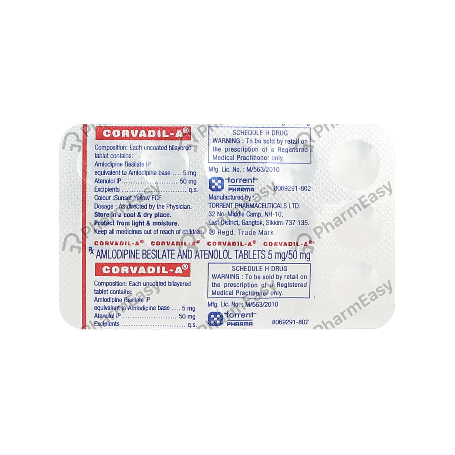 Corvadil A Strip Of 15 Tablets