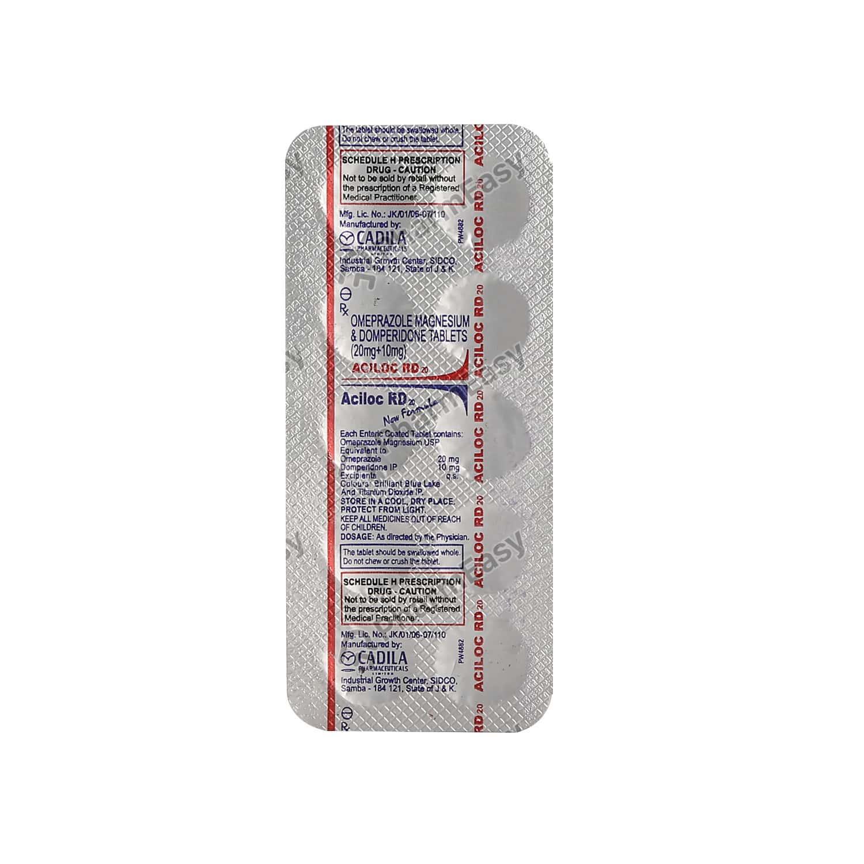 Aciloc Rd 20mg Tablet 10's