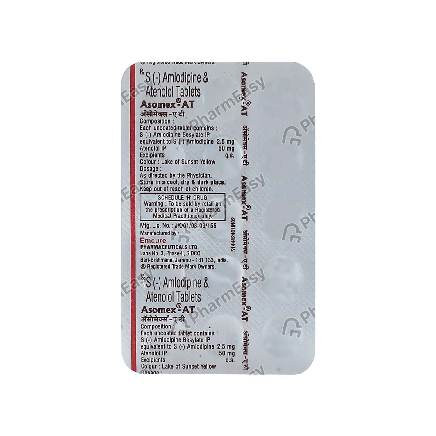 Asomex At 2.5mg 15's Tab