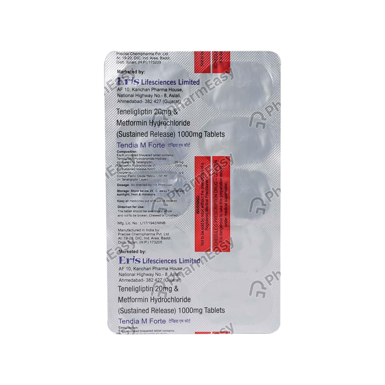 Tendia M Forte Strip Of 10 Tablets