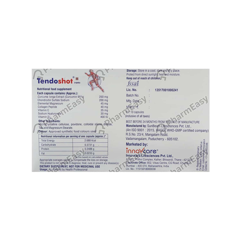 Tendoshot Capsule 10's