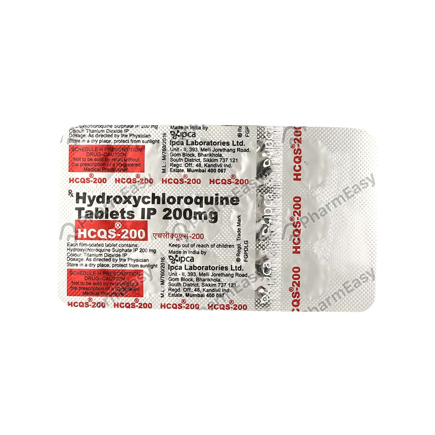 Hcqs 200mg Strip Of 15 Tablets