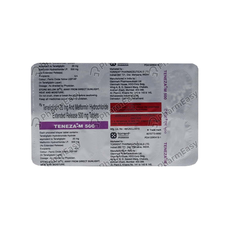 Teneza M 500mg Strip Of 10 Tablets