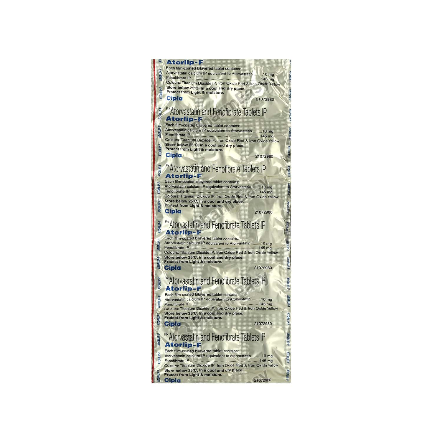 Atorlip F 10mg Strip Of 15 Tablets