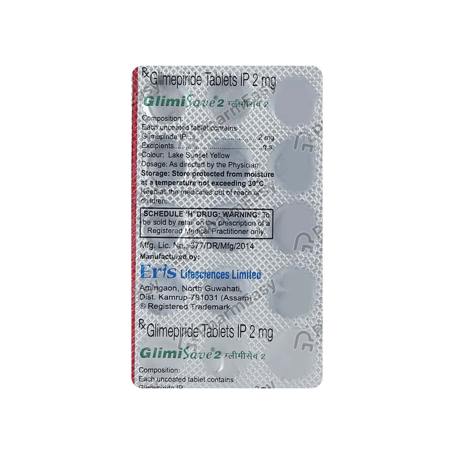 Glimisave 2mg Strip Of 15 Tablets