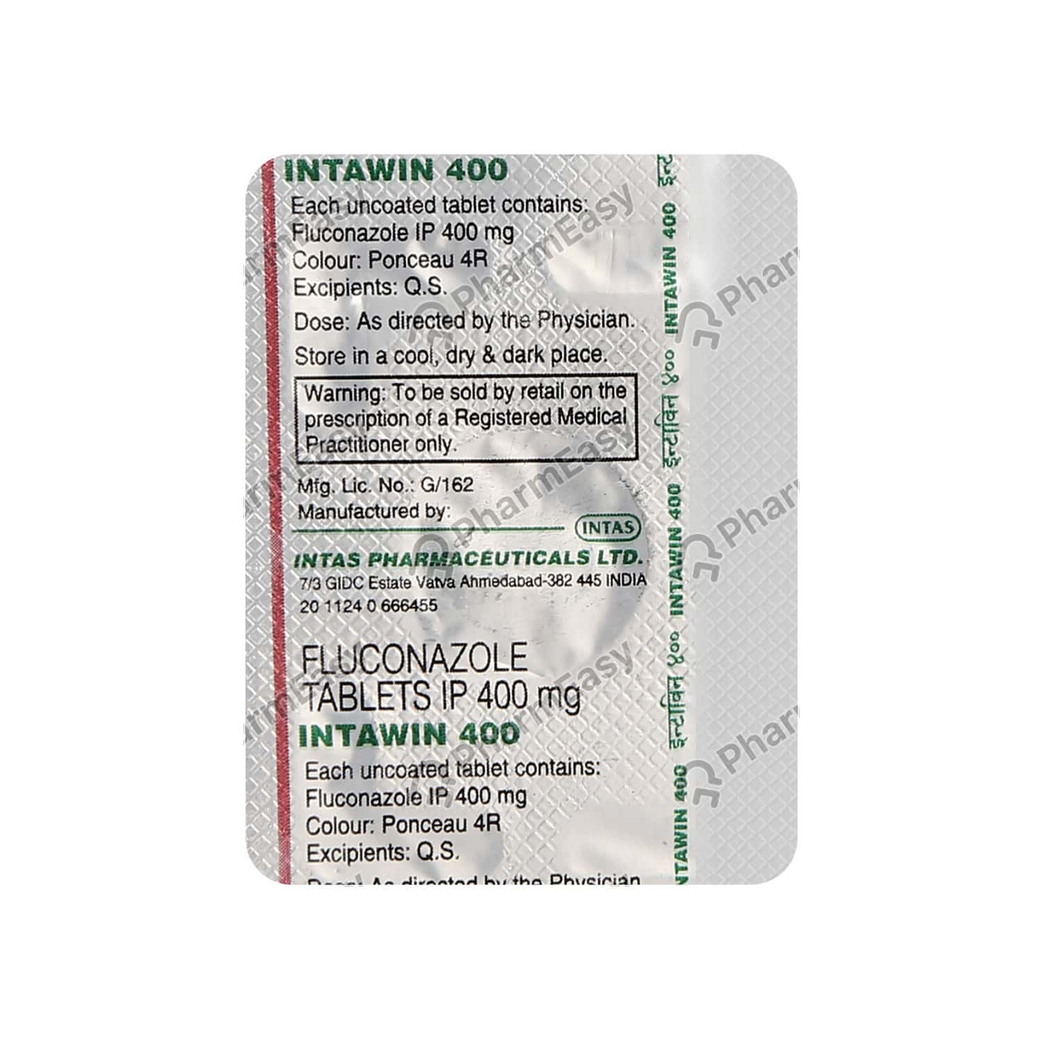 Intawin 400mg Strip Of 1 Tablets