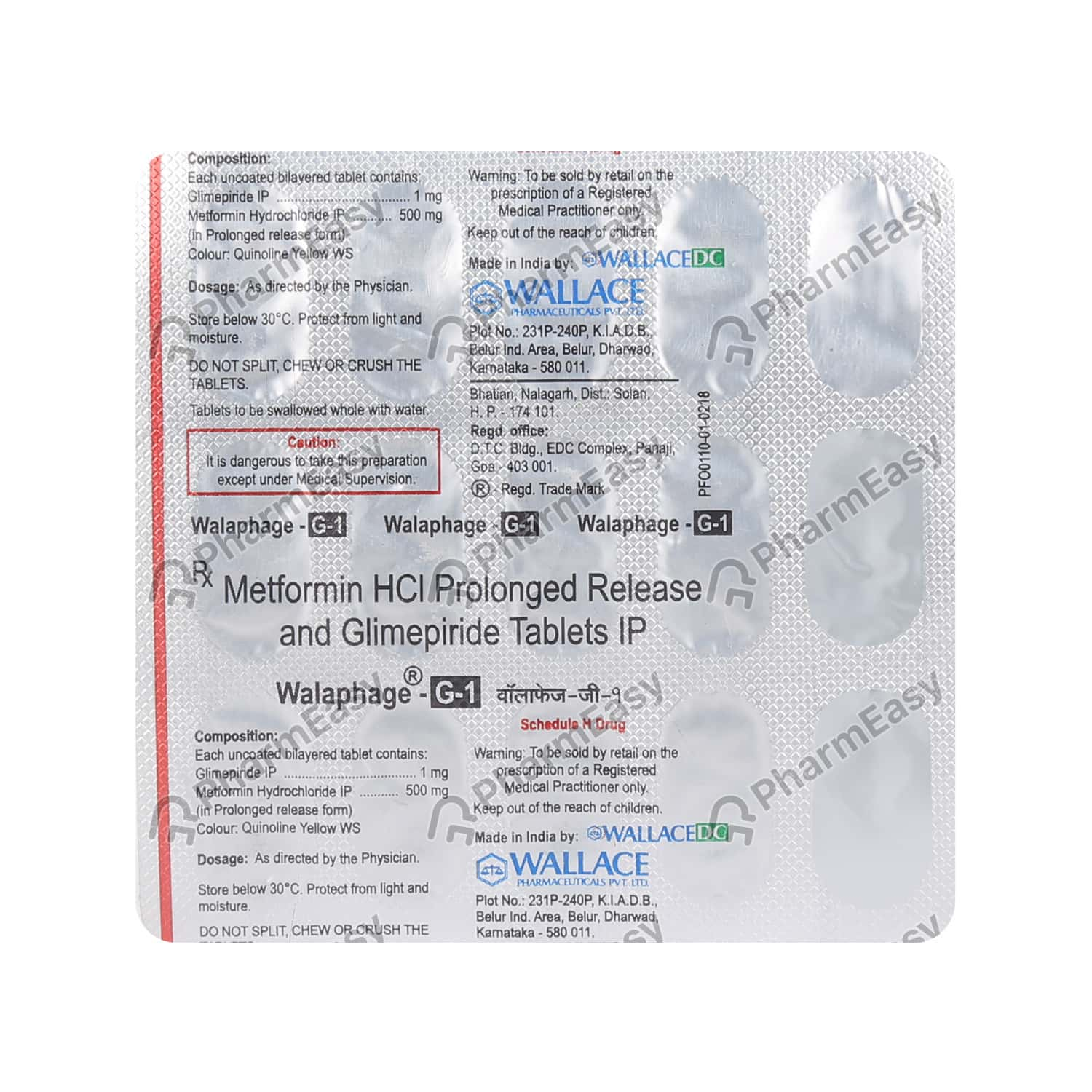 Walaphage G 1mg Tablet 15's