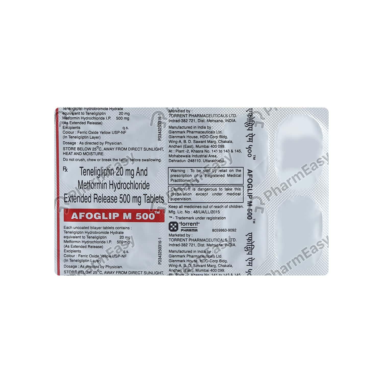 Afoglip M 500mg Strip Of 10 Tablets