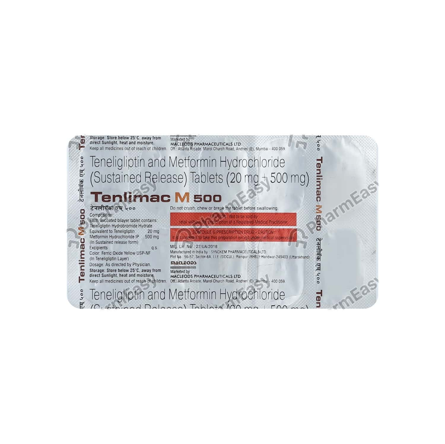 Tenlimac M 500mg Strip Of 10 Tablets