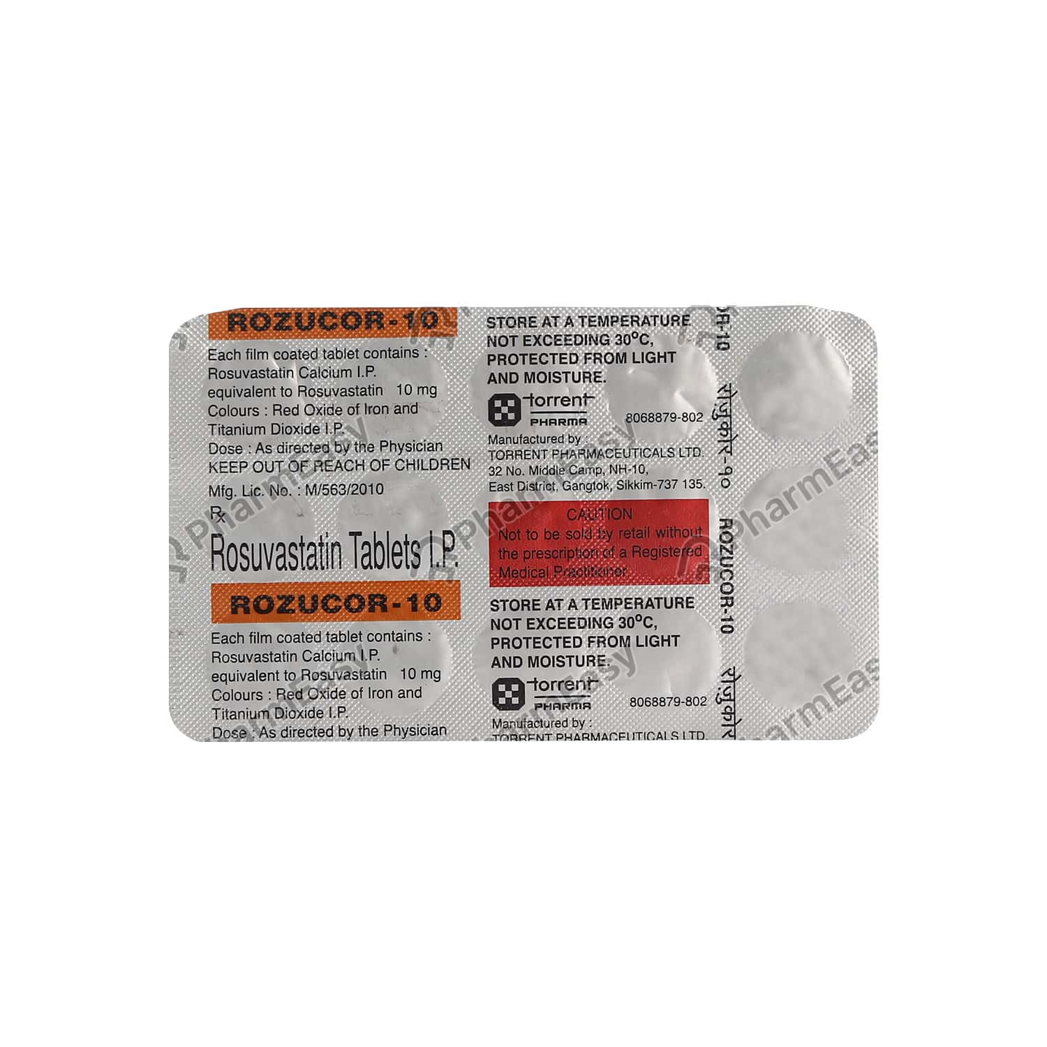 Rozucor 10mg Strip Of 15 Tablets