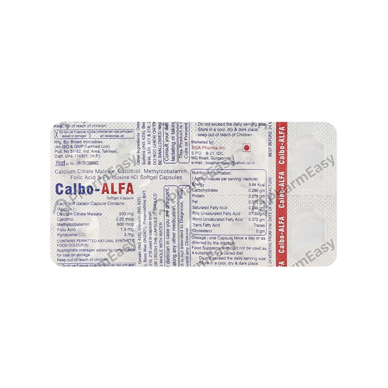 Calbo Alfa Strip Of 10 Capsules